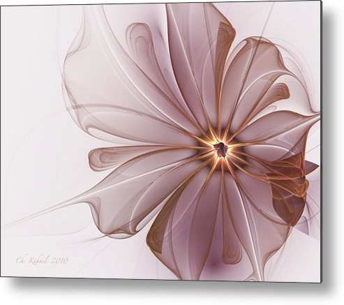 Abstract Metal Print featuring the digital art Sensitivity by Christine Kuehnel