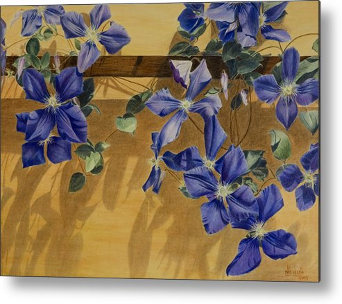 Clematis Metal Print featuring the painting Shadows Dancing by Nik Helbig