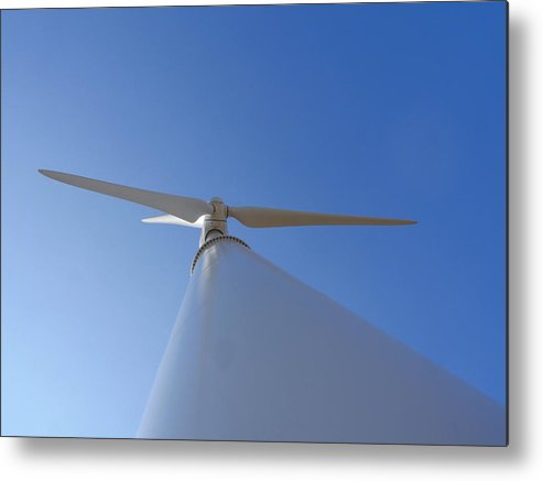 Richard Reeve Metal Print featuring the photograph Shoreham Wind Power by Richard Reeve
