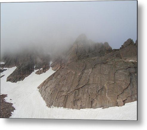 Longs Peak Metal Print featuring the photograph Shrouds Of Clouds by Cynthia Cox Cottam