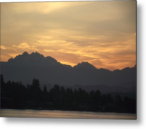 Sunrise Metal Print featuring the photograph Silhouette by Diane Songstad