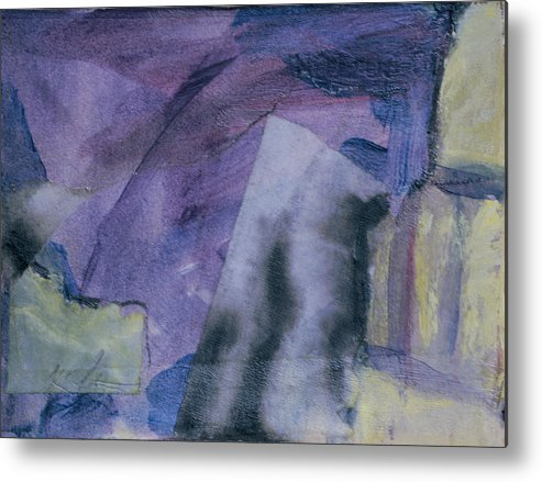 Abstract Metal Print featuring the painting Singing The Blues by Kevin Stevens