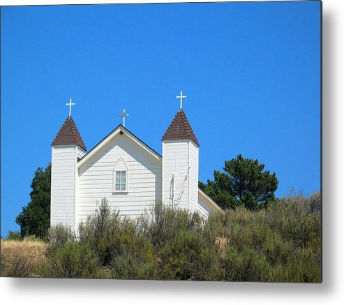 Church Metal Print featuring the photograph Sisquoc Church by Deborah Hildinger