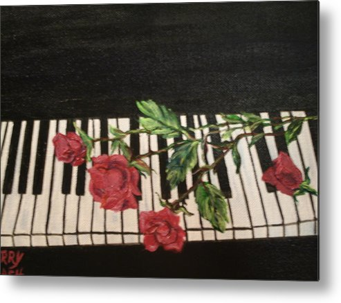 Piano Metal Print featuring the painting Sisters by Terry Lash