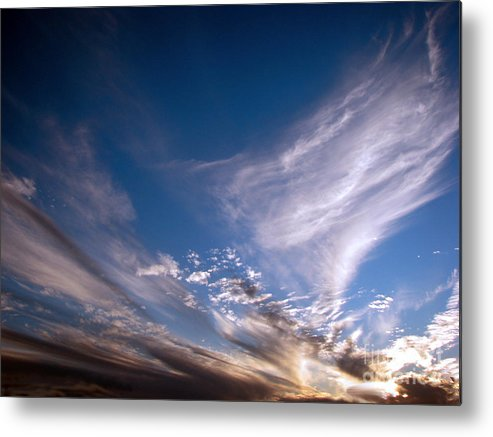 Skies Metal Print featuring the photograph Sky by Amanda Barcon