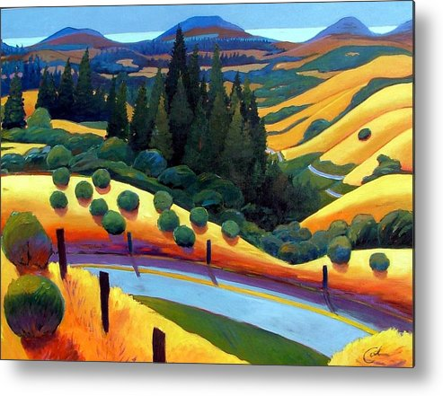 California Metal Print featuring the painting Skylline To The Sea Revisited by Gary Coleman