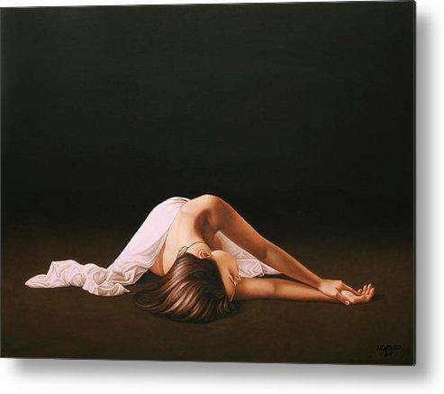 Nude Metal Print featuring the painting Sleeping Beauty by Horacio Cardozo