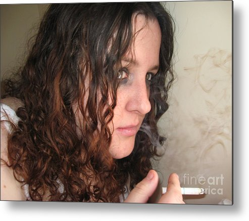 Portrait Metal Print featuring the photograph Smoke Color by Meghann Brunney