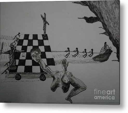 Surreal Metal Print featuring the painting Snail Trail by Maurice Noble