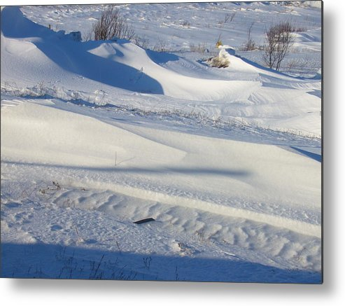 Winter Metal Print featuring the photograph Snow Drift by Sharon Stacey