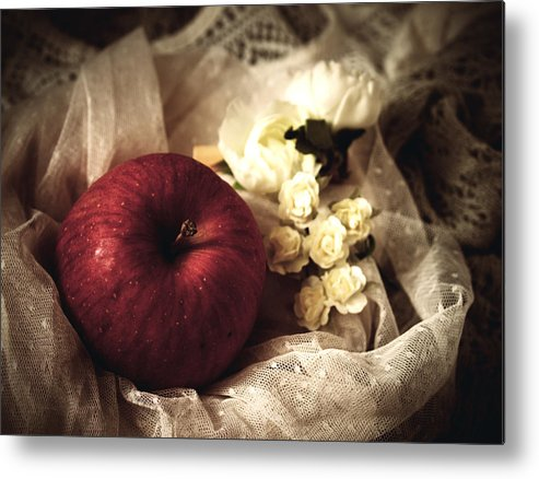 Show White Metal Print featuring the photograph Snow White's Chamber by Rachel Mirror