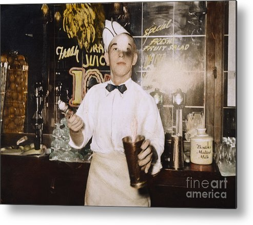 1939 Metal Print featuring the photograph Soda Jerk, 1939 by Granger