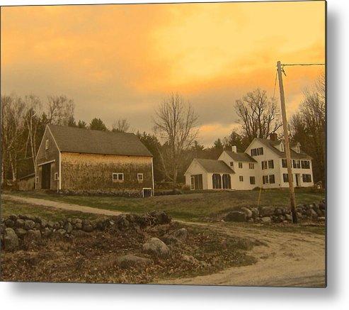 Farm Metal Print featuring the photograph Soft Evening Light by Elizabeth Tillar