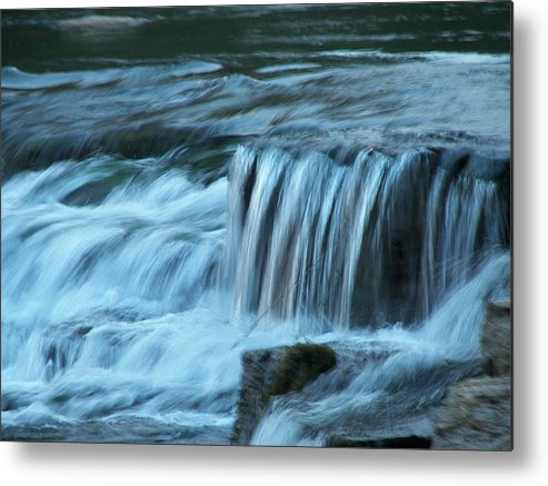 Soft Metal Print featuring the painting Soft Water by Kim