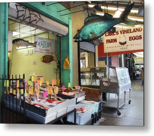 Fish Metal Print featuring the photograph Something's Fishy by Lori Deiter