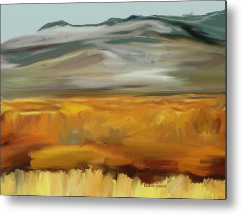 Abstract Metal Print featuring the painting South Of Walden by Lenore Senior