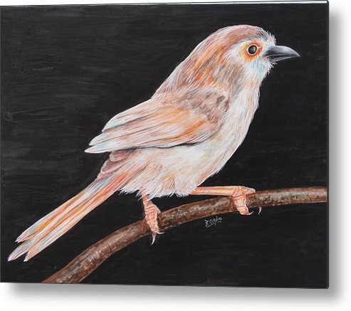 Bird Metal Print featuring the painting Sparrow by Rajesh Chopra