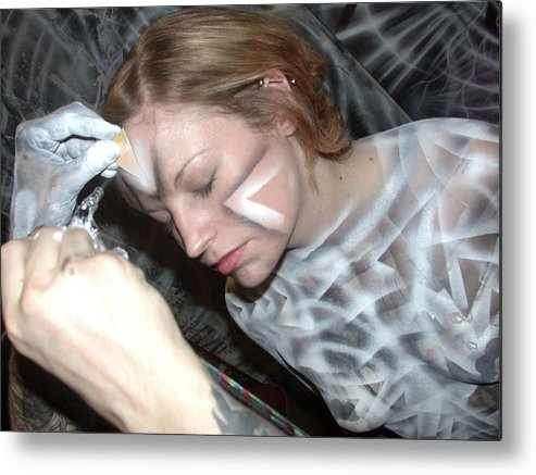 Body Paint Metal Print featuring the painting Spiral 1 by Leigh Odom
