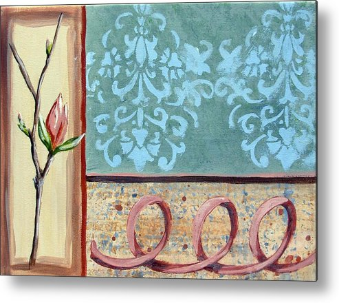 Decorative Metal Print featuring the painting Spring Fling 2 by Judy Anderson