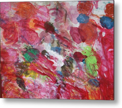 Spring Metal Print featuring the mixed media Spring by Kim Putney