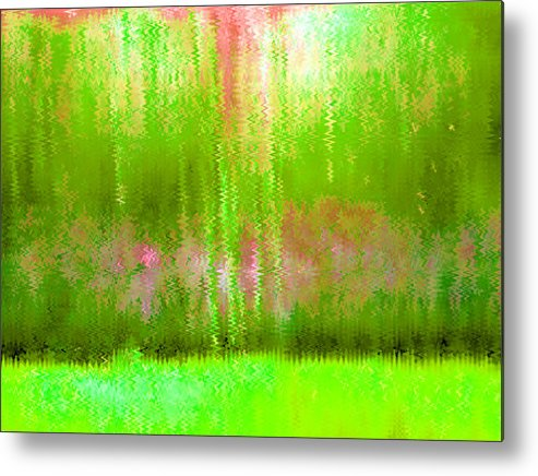 Pink Metal Print featuring the painting Spring Light by Vicky Brago-Mitchell
