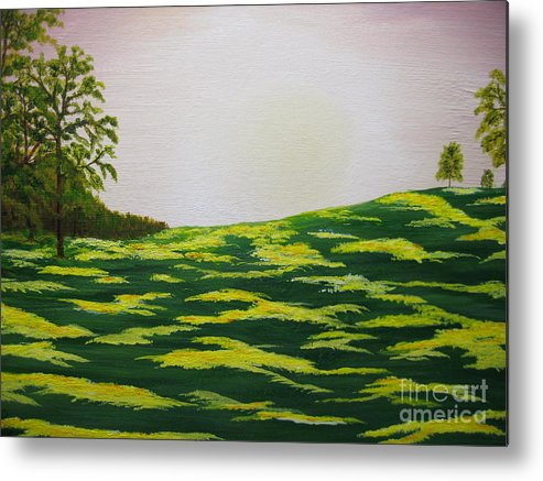 Trees Metal Print featuring the painting Spring Morning by Todd Androy