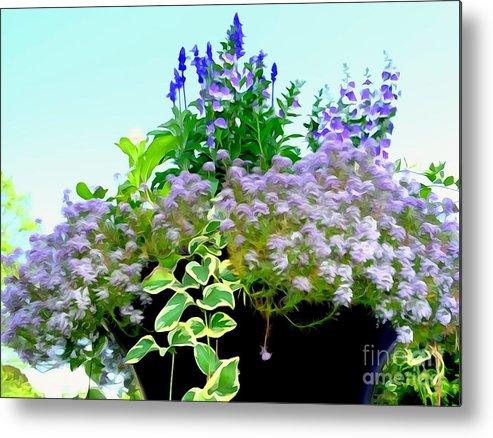 Digital Metal Print featuring the photograph Spring Planter by Ed Weidman