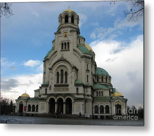 Cathedral Metal Print featuring the photograph St Alexander Nevski Cathedral In Sofiq by Iglika Milcheva-Godfrey