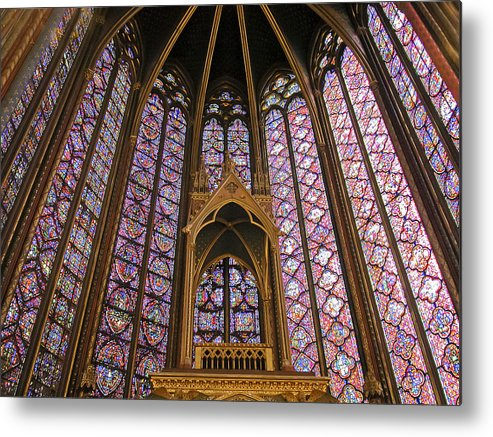 France Metal Print featuring the photograph St Chapelle Paris by Alan Toepfer