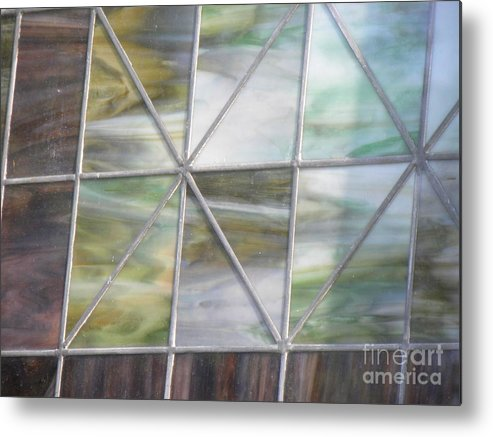 Church Metal Print featuring the photograph Stain Glass 1 by Janet Dickinson