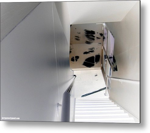 Black Metal Print featuring the photograph Stair Way by Gerard Yates
