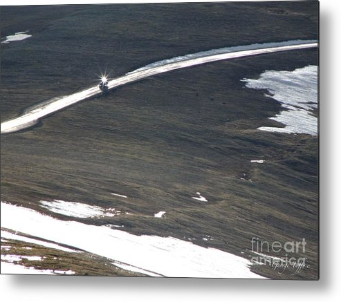 Car Reflection Sun Rocky Mountains Trail Ridge Road Zen Simple Colorado Metal Print featuring the photograph Star Car by George Tuffy