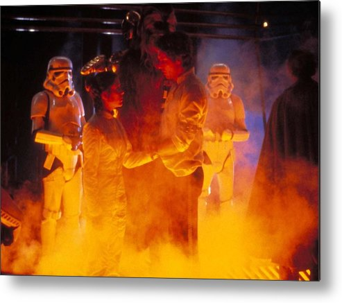 Star Wars Episode V The Empire Strikes Back Metal Print featuring the digital art Star Wars Episode V The Empire Strikes Back by Dorothy Binder