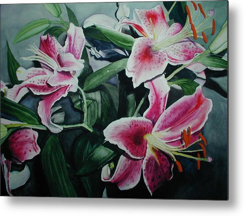 Flowers Metal Print featuring the painting Stargazers by Dwight Williams