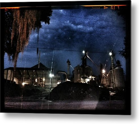 Creepy Metal Print featuring the photograph Starless Night by Brian Groves