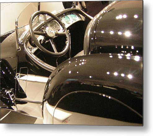 Cars Metal Print featuring the photograph Steering by Heather Weikel