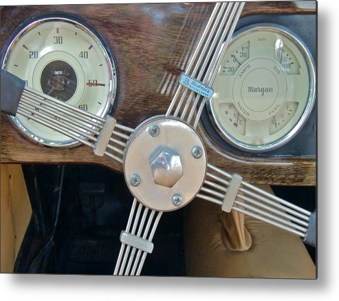 Antique Cars Metal Print featuring the photograph Steering by Richard Mansfield
