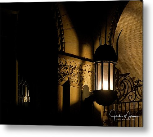 Morgantown Wvu Metal Print featuring the photograph Stewert Lights by Jacki Marino