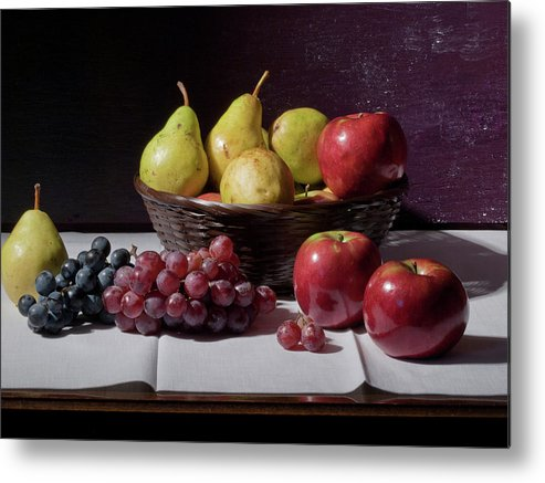 Still Life Metal Print featuring the photograph Still Life After Monet by Paul R Sell Jr
