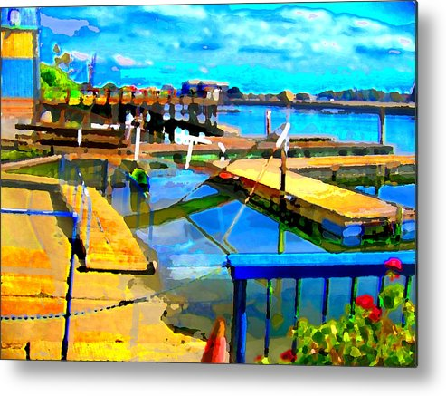 Metal Print featuring the digital art Stockton Harbor by Danielle Stephenson