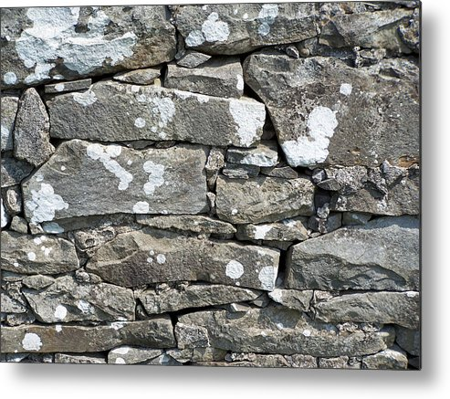 Irish Metal Print featuring the photograph Stone Wall Detail Doolin Ireland by Teresa Mucha