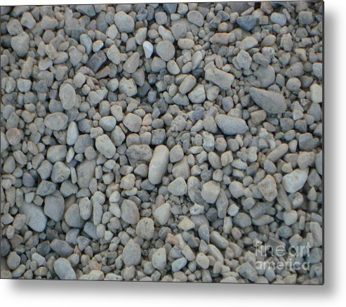 Pebbles Metal Print featuring the photograph Stones Texture by PJ Cloud
