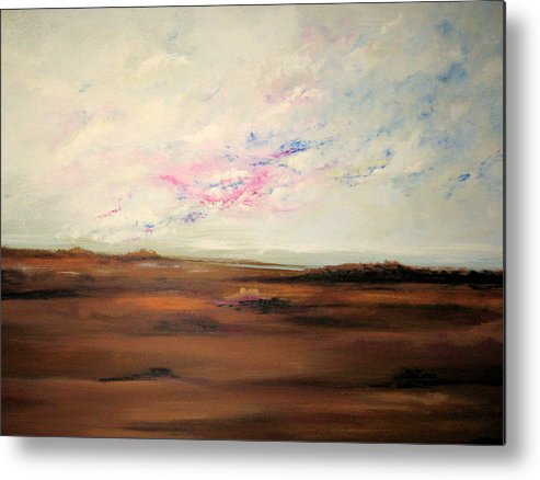 Landscape Metal Print featuring the painting Storm Catcher by Marcia Crispino