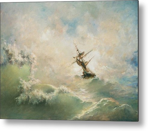 Storm Metal Print featuring the painting Storm by Tigran Ghulyan