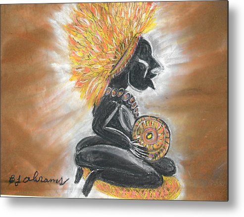 Ethnic Metal Print featuring the painting Story Teller by BJ Abrams