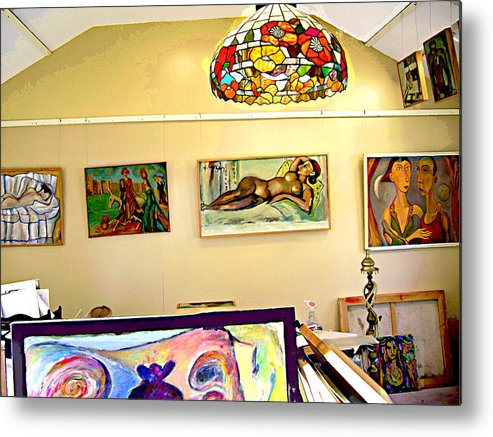 Nude Metal Print featuring the digital art Studio9 by Noredin Morgan