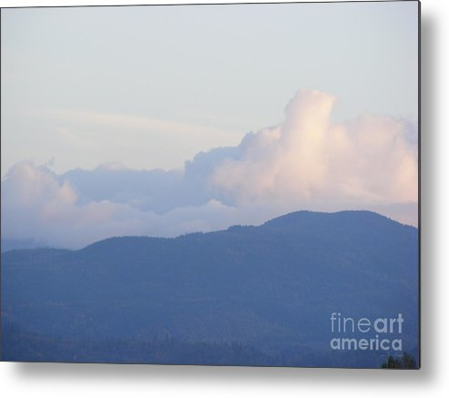Sky Metal Print featuring the photograph Sumas Prairie Hills by Attila Jacob Ferenczi