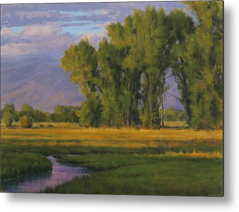 Rural Landscape Metal Print featuring the painting Summer Evening In Bishop by Joe Mancuso