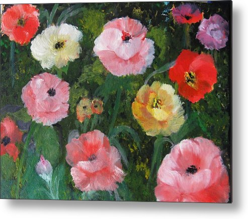 Poppies Metal Print featuring the painting Summer Sensations by Trilby Cole