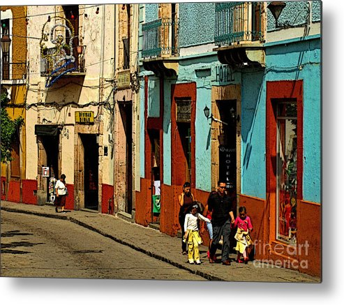 Darian Day Metal Print featuring the photograph Sunday Morning Stroll by Mexicolors Art Photography